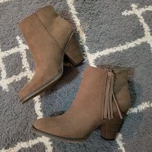 altar'd state brown heel booties 10